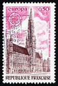 邮资邮票法国 1973年市政厅,布鲁塞尔 — 图库照片