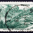 Postage stamp France 1937 Mountain Road at Iseran, Savoy — Stock Photo