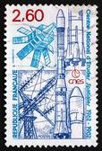 Postage stamp frankreich 1982 nationale raum-studienzentrum — Stockfoto