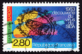 Postzegel frankrijk 1994 ontdekking van aids-virus — Stockfoto