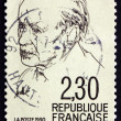Stock Photo: Postage stamp France 1990 Maurice Genevoix, Novelist