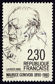 Postage stamp France 1990 Maurice Genevoix, Novelist — Stock Photo
