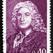Stock Photo: Postage stamp France 1968 Alain Rene LeSage, Novelist and Playwr