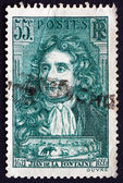 Postage stamp France 1938 Jean de La Fontaine, Fabulist and Poet — Stock Photo