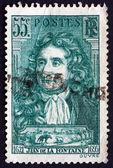 Postage stamp France 1938 Jean de La Fontaine, Fabulist and Poet — Stock Photo
