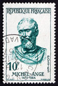 Postage stamp France 1957 Michelangelo, Italian Sculptor, Painte — Stock Photo