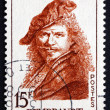 Postage stamp France 1957 Rembrandt, Dutch Painter, Portrait — Stock Photo #28230209