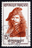 Postage stamp France 1957 Rembrandt, Dutch Painter, Portrait — Stock Photo