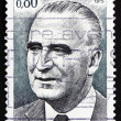 Stock Photo: Postage stamp France 1975 Georges Pompidou, French President