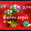 Postage stamp flocons de france 2000, bonne année — Photo