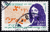 Postage stamp France 2001 Pierre de Fermat, Mathematician, Lawye — Stock Photo