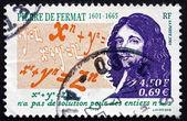 Postage stamp France 2001 Pierre de Fermat, Mathematician, Lawye — Stock Photo
