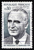 Postage stamp France 1975 Georges Pompidou, French President — Stock Photo