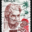 Stock Photo: Postage stamp France 1975 Dr. Albert Schweitzer