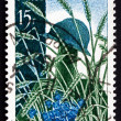 Postage stamp France 1958 Soldier's Grave in Wheat Field — Stock Photo