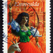 Postage stamp France 2003 Esmeralda, from Notre Dame de Paris — Stock Photo