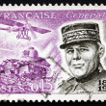 Постер, плакат: Postage stamp France 1960 General Jean Baptiste Eugene Estienne