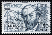 Postage stamp France 1980 Eugene Viollet le Duc, Architect — Stock Photo