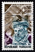 Postage stamp France 1973 Gaspard de Coligny, Admiral — Stock Photo