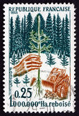 Postage stamp France 1965 Planting Seedling — Stock Photo