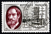 Postage stamp France 1957 Gaston Plante, Physicist — Stock Photo