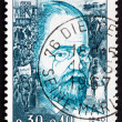 Stock Photo: Postage stamp France 1967 Emile Zola, Writer