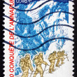 Postage stamp France 2000 Expedition to Annapurna — Stock Photo