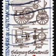 Stock Photo: Postage stamp France 1984 Automobile Plans