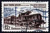 Postage stamp France 1955 Electric Train — Stock Photo