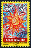 Postage stamp France 1999 Welcome — Stock Photo
