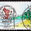 Postage stamp France 1992 View of Mayotte — Stock Photo