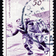 Stock Photo: Postage stamp France 1956 Rugby, Team Sport
