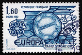 Postage stamp France 1982 Treaty of Rome, 1957 — Stock Photo
