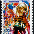 Stock Photo: Postage stamp France 2000 France as World Cup Soccer Champions
