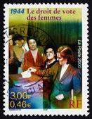 Pocztowych znaczków francja 2000 równouprawnienie kobiet, 1944 — Zdjęcie stockowe