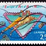 Postage stamp France 1992 National Art Festival, Niort — Stock Photo #29197215