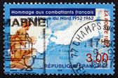 Postage stamp France 1997 Honoring French Soldiers in North Afri — Stock Photo