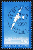 Postage stamp France 1991 Broken Bird Flying — Stock Photo