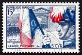 Postage stamp France 1954 Cadets Marching Through Gateway — Stock Photo