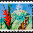 Postage stamp France 1997 Guadeloupe National Park — Stock Photo
