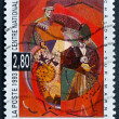 Postage stamp France 1993 The Clowns, by Albert Gleizes — Stock Photo #29249519
