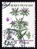 Postage stamp France 1983 Thistle, Cynareae, Flowering Plant — Stock Photo