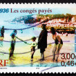 Postage stamp France 2000 Paid Vacations, 1936 — Stock Photo