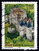 Postage stamp France 2001 Chateau Saint-Jean, Nogent-le-Rotrou — Stock Photo
