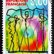 Stock Photo: Postage stamp France 1997 Wire Characters