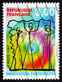 Postage stamp France 1997 Wire Characters — Stock Photo