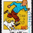 Postage stamp France 2000 Tintin, Comic Character — Stock Photo