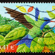Postage stamp France 2003 Blue-headed Hummingbird, Bird — Stock Photo
