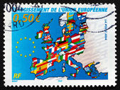 Postage stamp France 2004 Map of Europe — Stock Photo