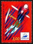 Sello de franqueo francia 1997 1998 campeonato mundial de fútbol de copa — Foto de Stock